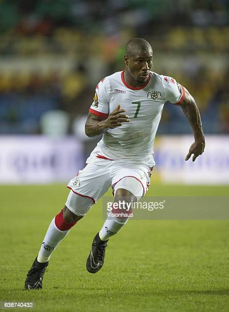Niguimbe Nakoulma of Burkina Faso during the Group A match between Burkina Faso v Cameroon at Stade de L'Amitie on January 14 2017 in Libreville Gabon