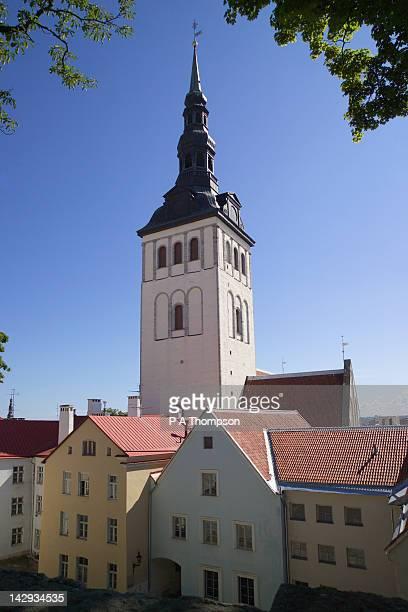 niguliste church, tallinn, estonia - st nicholas' church stock pictures, royalty-free photos & images