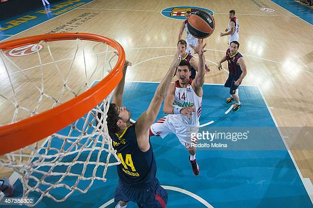 Nihad Djedovic #14 of FC Bayern Munich in action during the 20142015 Turkish Airlines Euroleague Basketball Regular Season Date 1 between FC...