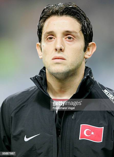 Nihat Kahveci of Turkey before the friendly match between Turkey and Germany at the Ataturk Olympic Stadium on October 8 2005 in Istanbul Turkey