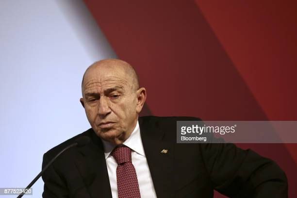 Nihat Ozdemir chairman of Limak Holding AS pauses during the Bloomberg HT conference in Istanbul Turkey on Wednesday Nov 22 2017 The Turkish...