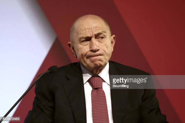 Nihat Ozdemir chairman of Limak Holding AS reacts during the Bloomberg HT conference in Istanbul Turkey on Wednesday Nov 22 2017 The Turkish...