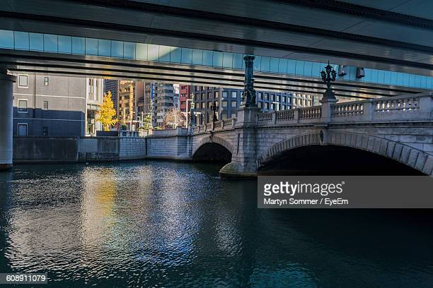 Nihon Bridge Over River In City