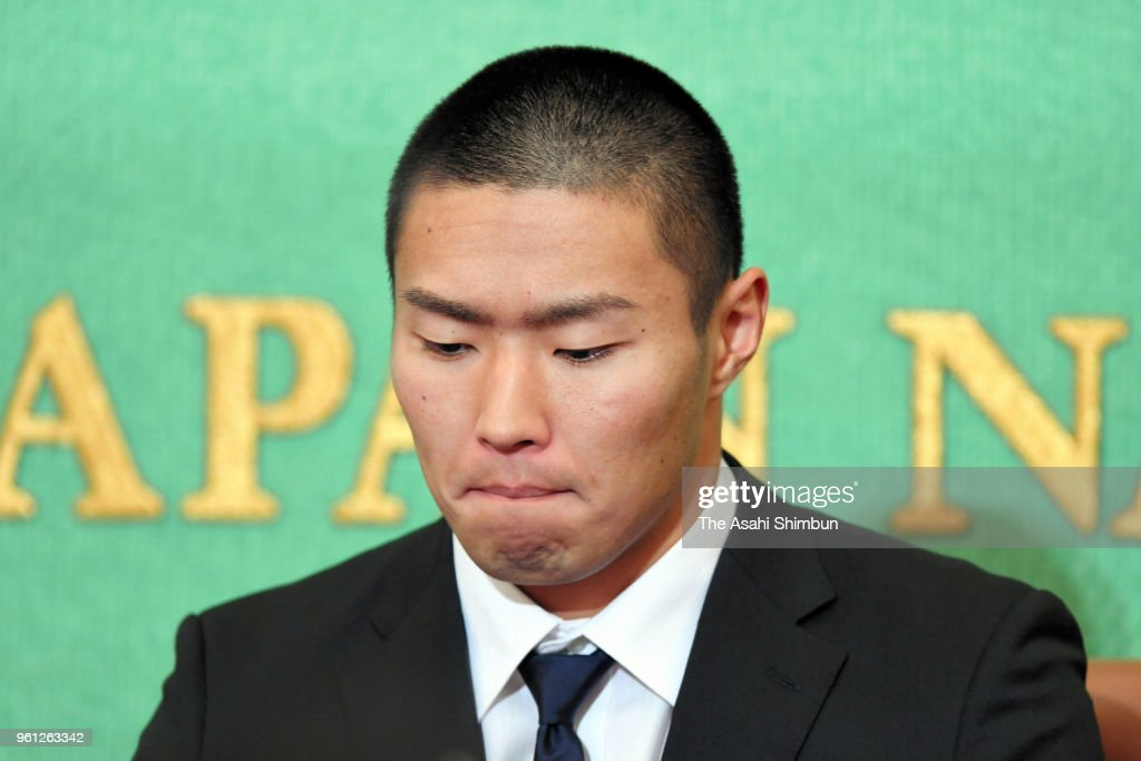 Nihon Univ. American Football Player Holds Press Conference