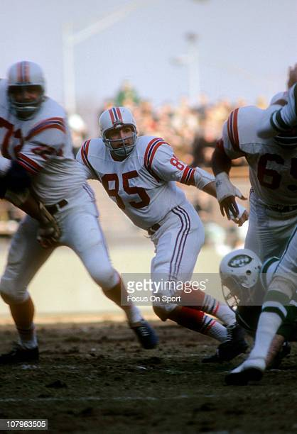 NIick Buoniconti of the Boston Patriots in action against the New York Jets during an AFL football game at Shea Stadium December 17 1966 in the...