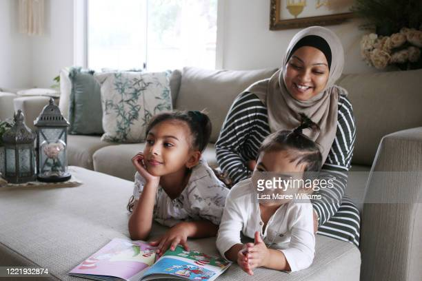 """Niina Kaydee owner of small business Keepsakes and Co isolates at home with daughter Amelia and Daniel on April 28 2020 in Sydney Australia """"I had to..."""