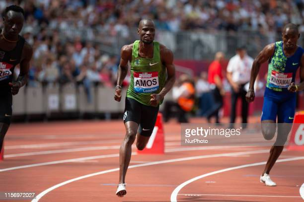Nijel Amos in the 800m before pulling out with injury during the Muller Anniversary Games at the London Stadium, Stratford on Saturday 21st July 2019.