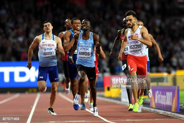 Nijel Amos of Botswana and Adam Kszczot of Poland compete in the Mens 800 Metres semi finals during day three of the 16th IAAF World Athletics...