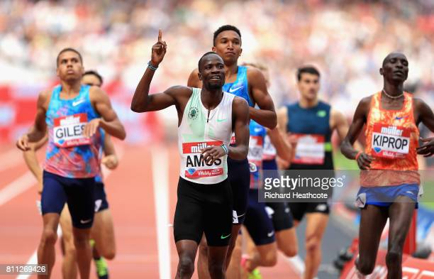 Nijel Amos of Botswana wins the mens 800m final during the Muller Anniversary Games at London Stadium on July 9, 2017 in London, England.