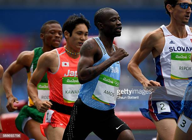 Nijel Amos of Botwana competes in round one of the Men's 800 metres on Day 7 of the Rio 2016 Olympic Games at the Olympic Stadium on August 12, 2016...