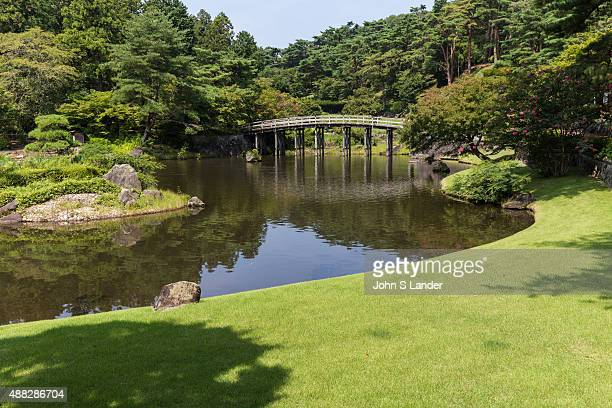 IZU SHUZENJI SHIZUOKA JAPAN NijinoSato Japanese garden makes use of nature and surrounding land forms with an abundance of trees and flowers blooming...