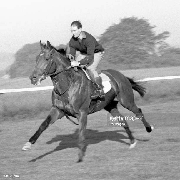 Nijinsky favourite for the Derby having an early morning gallop on the Derby course at Epsom