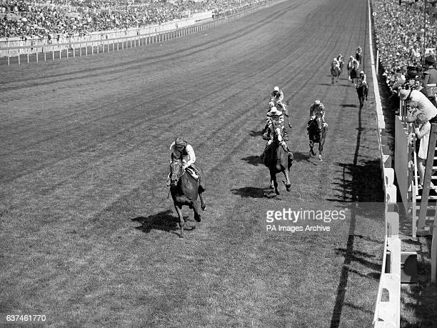 Nijinsky Lester Piggott up comes home to win from Gyr W Williamson up Stintino G Thibosuf up and Great Wall Joe Mercer up