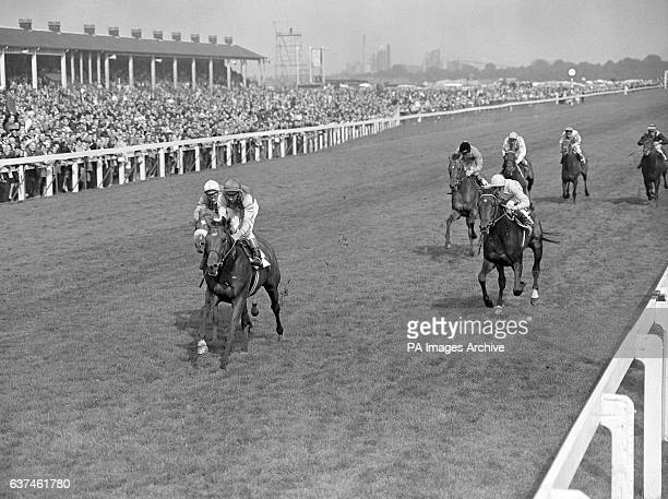 Nijinsky Lester Piggott up wins by half a length from Meadowville Johnny Seagrave up and Politico Sandy Barclay up