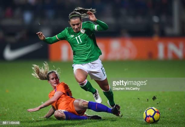 Nijmegen Netherlands 28 November 2017 Katie McCabe of Republic of Ireland in action against Desiree van Lunteren of Netherlands during the 2019 FIFA...