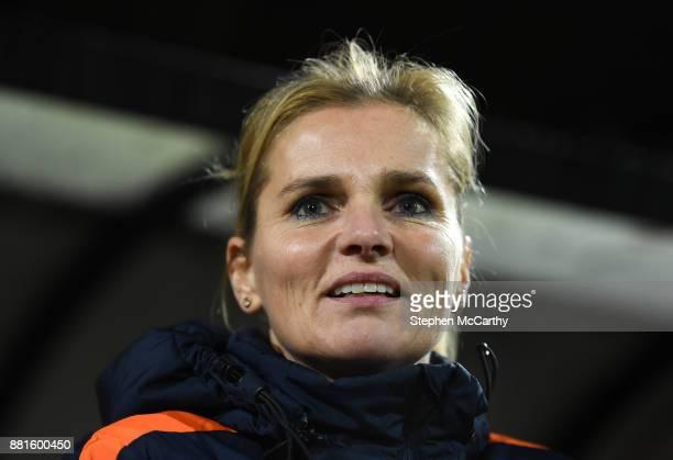 Nijmegen Netherlands 28 November 2017 Netherlands head coach Sarina Wiegman during the 2019 FIFA Women's World Cup Qualifier match between...