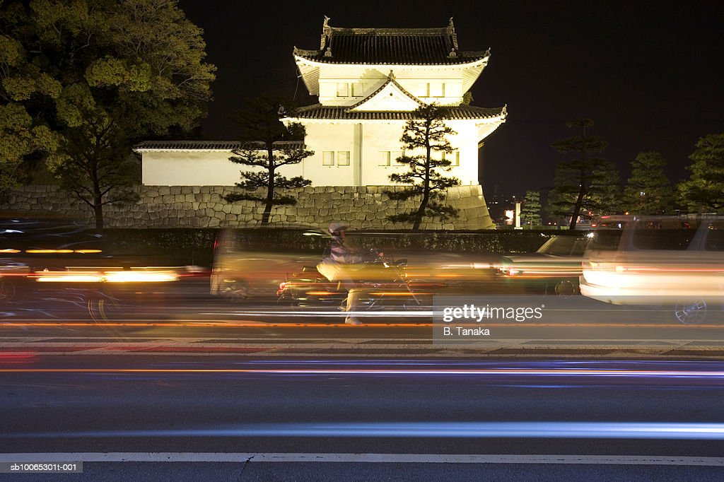Nijo Castle with road in foreground : Foto stock