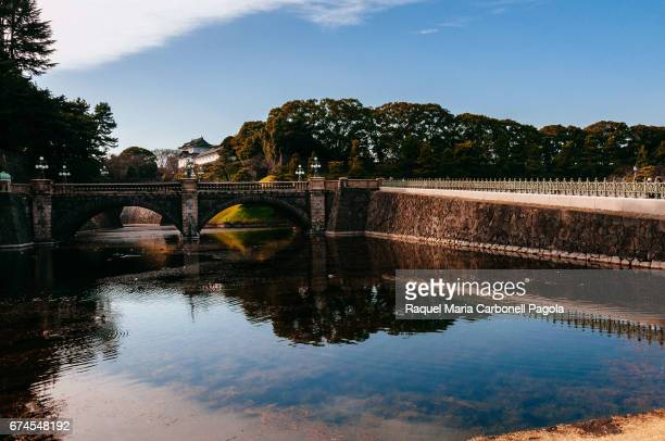 TOKYO KANTO REGION HONSHU ISLAND JAPAN Nijubashi bridge is the main gate to Imperial Palace However these bridges are closed to public except during...