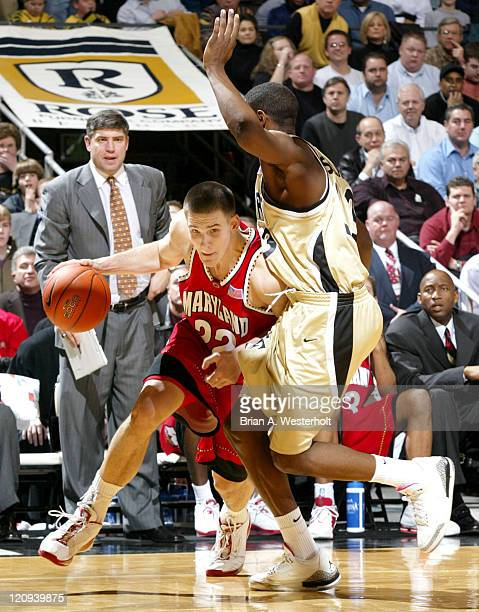 Nik Caner-Medley drives past Trent Strickland during the second half of Maryland's 93-85 loss to Wake Forest