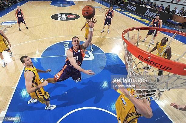 Nik Caner-Medley of Valencia Basket in action during the 2012 Eurocup Basketball Final Game between BC Khimki Moscow Region v Valencia Basket at...