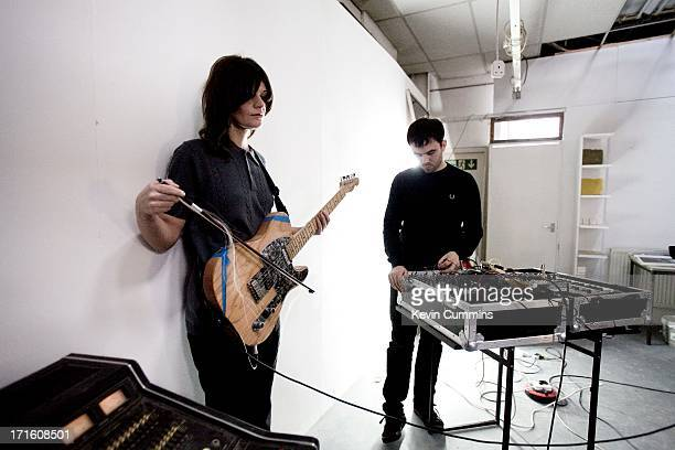 Nik Colk Void And Dominic Butler Of Electronic Rock Band Factory Floor At A Rehearsal UK
