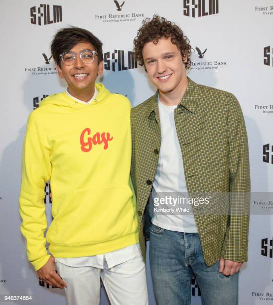 Nik Dodani Antonio Marziale attend the Alex Strangelove red carpet premiere during 2018 SFFILM at Victoria Theatre on April 14 2018 in San Francisco...