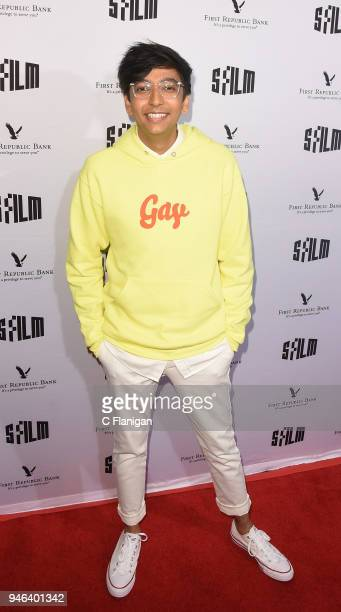 Nik Dodani attends the Alex Strangelove premiere during the 2018 San Francisco Film Festival at Victoria Theatre on April 14 2018 in San Francisco...