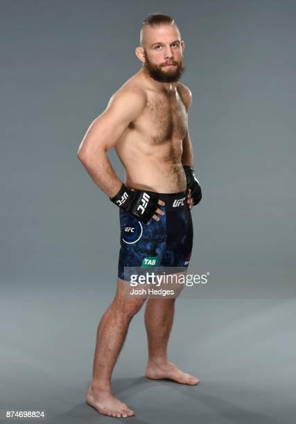 Nik Lentz poses for a portrait during a UFC photo session on November 16 2017 in Sydney Australia
