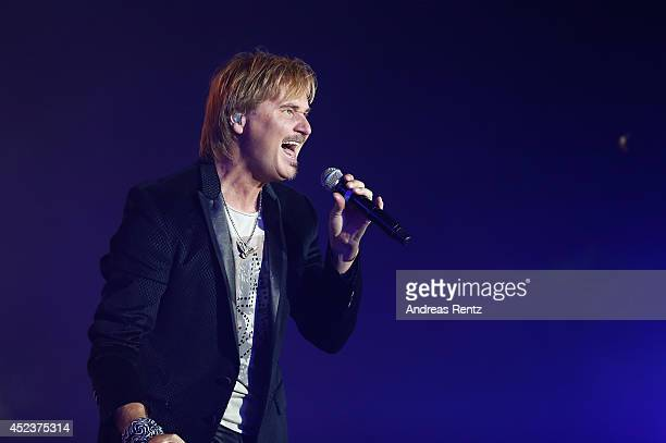 Nik P performs live on stage during the Andrea Berg Open Air festival 'Heimspiel' at mechatronik Arena on July 18 2014 in Grossaspach Germany