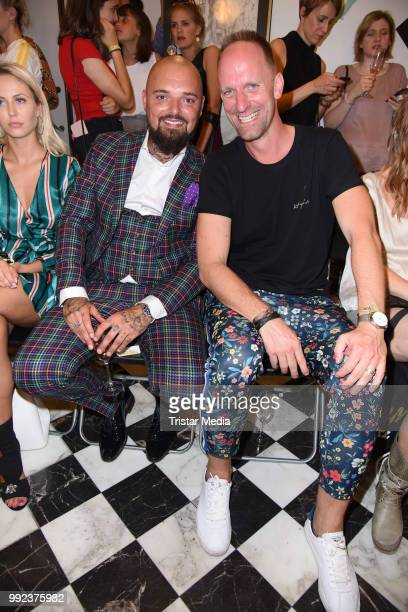 Nik Schroeder and Daniel Termann attend the Fashion2Show show during the Berlin Fashion Week Spring/Summer 2019 at Quartier 206 on July 5 2018 in...