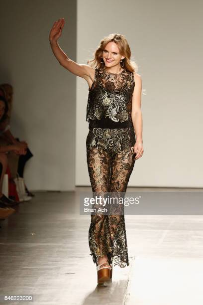 Nik Shimmin walks the runway for Flare Street at Fashion Palette New York Fashion Week Spring/Summer 2018 at Pier 59 on September 12 2017 in New York...