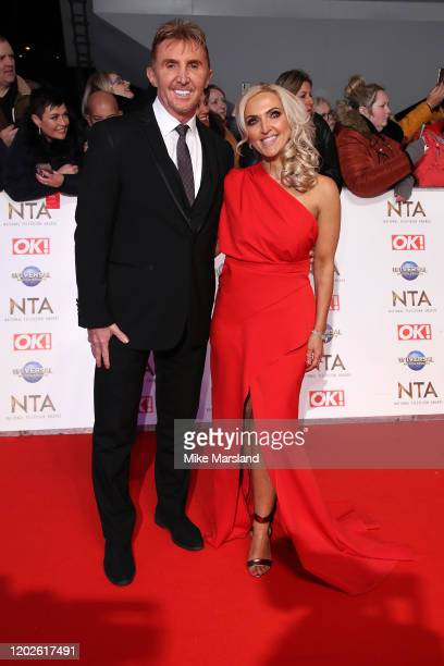 Nik Speakman and Eva Speakman attend the National Television Awards 2020 at The O2 Arena on January 28 2020 in London England
