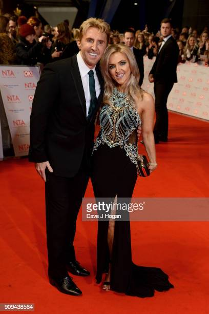Nik Speakman and Eva Speakman attend the National Television Awards 2018 at The O2 Arena on January 23 2018 in London England