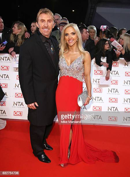 Nik Speakman andEva Speakman attend the National Television Awards at The O2 Arena on January 25 2017 in London England