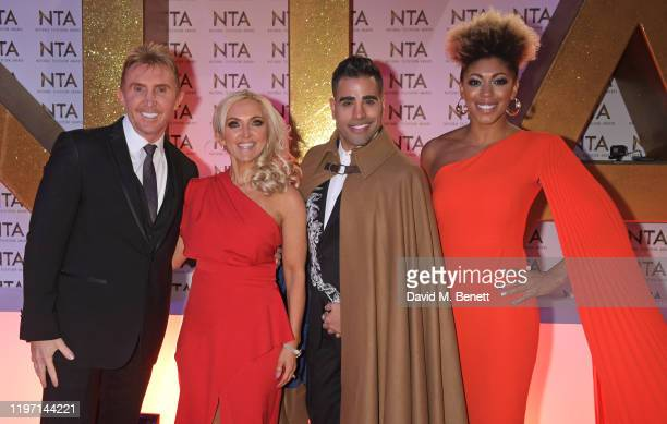 Nik Speakman Eva Speakman Dr Ranj Singh and Dr Zoe Williams attend the National Television Awards 2020 at The O2 Arena on January 28 2020 in London...