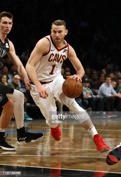 Nik Stauskas of the Cleveland Cavaliers in action against the Brooklyn Nets during their game at Barclays Center on March 06 2019 in New York City...