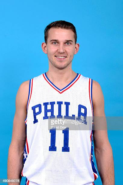 Nik Stauskas of the Philadelphia 76ers poses for a photo during media day on September 28 2015 in Galloway New Jersey NOTE TO USER User expressly...