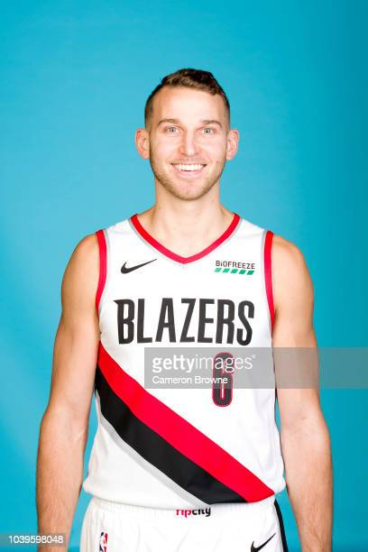 Nik Stauskas of the Portland Trail Blazers poses for a head shot during the Portland Trail Blazers Media on September 24 2018 at the Moda Center in...