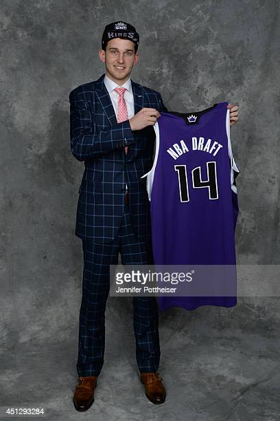 Nik Stauskase the 8th pick overall by the Sacramento Kings poses for a portrait during the 2014 NBA Draft at the Barclays Center on June 26 2014 in...