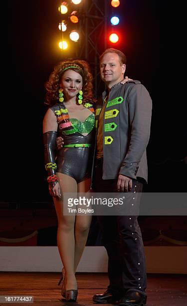 Nik Wallenda and his wife Erendira Wallenda pose for a photograph at Circus Sarasota on February 15 2013 in Sarasota Florida Nik Wallenda is planning...