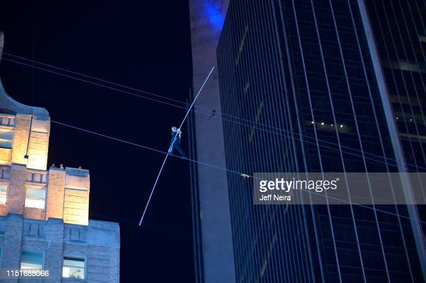 Nik Wallenda and Lijana Wallenda, seventh-generation members of the Wallenda family circus troupe, return to the highwire for a...