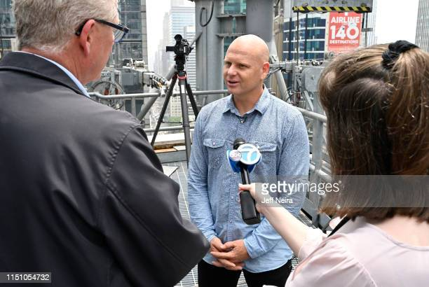 Nik Wallenda, seventh-generation member of the Wallenda family circus troupe, holds a press event in anticipation of his return to the highwire for a...