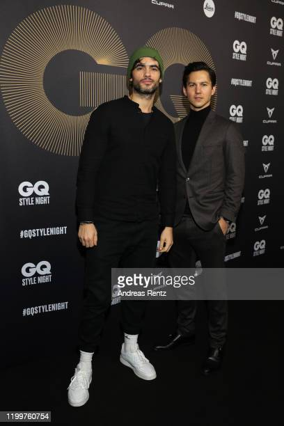 Nik Xhelilaj and Tim Oliver Schultz attend the GQ Style Night during Berlin Fashion Week Autumn/Winter 2020 at BRICKS Berlin on January 15, 2020 in...