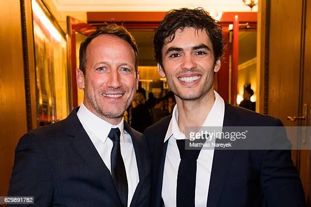 Nik Xhelilaj and Wotan Wilke Moehring attend he 'Winnetou Eine neue Welt' premiere at Delphi on December 14 2016 in Berlin Germany
