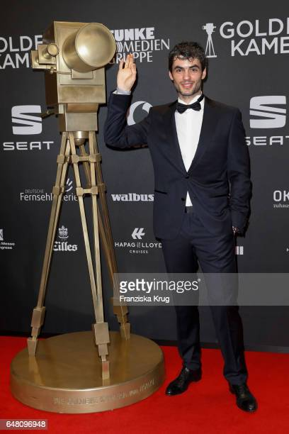 Nik Xhelilaj arrives for the Goldene Kamera on March 4 2017 in Hamburg Germany