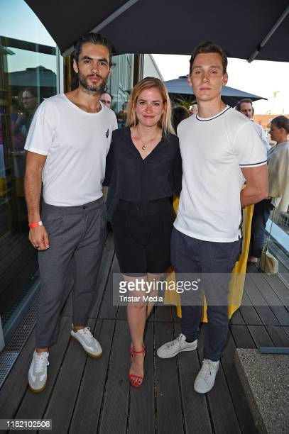Nik Xhelilaj Merle Collet and Rick Okon attend the SemiFinal Round of Judging for The 47th International Emmy Awards on June 26 2019 in Berlin Germany