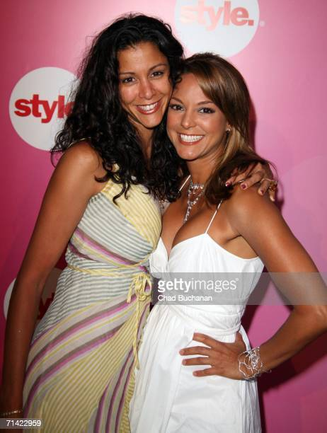 Nika La Rue and Eva La Rue arrives at the Style Network Party At The Summer TCA Tour on July 11 2006 in Pasadena California
