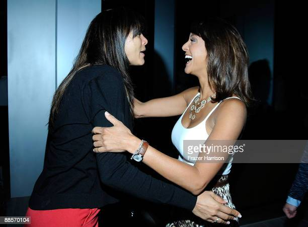 Nika LaRue and Eva LaRue actress arrive at the grand opening of The new BOA Steakhouse In West Hollywood at BOA Steakhouse on June 17 2009 in West...