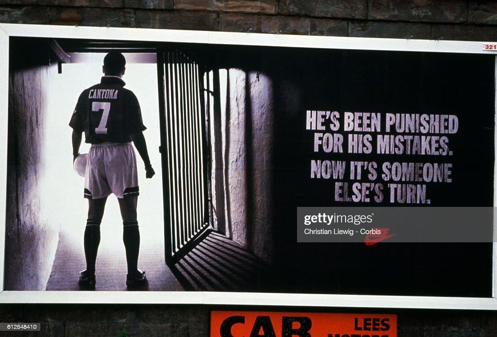French Soccer Player Eric Cantona : News Photo