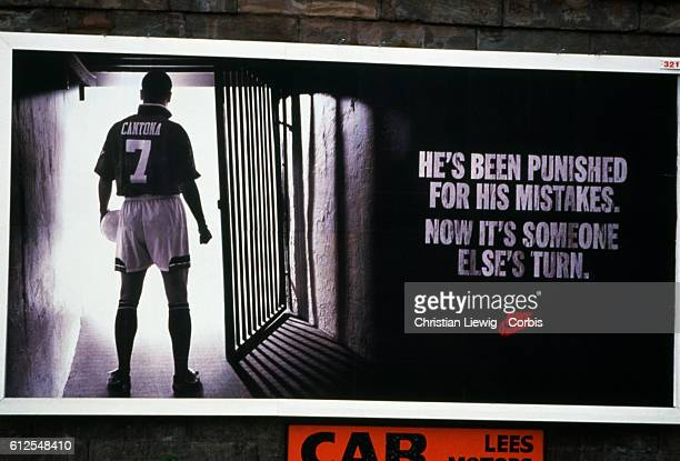 A Nike advertisement with French soccer star Eric Cantona